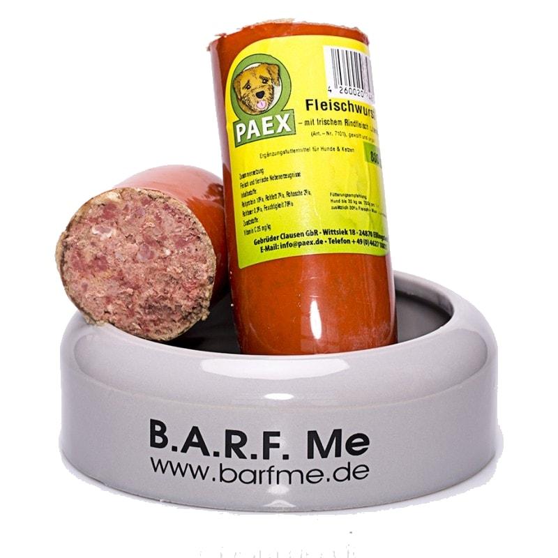 Barf Urlaubsfutter Fleischwurst für Hunde