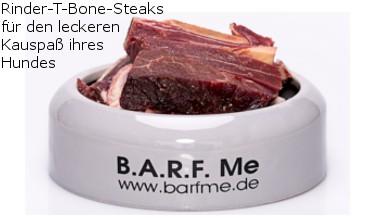 Rinder-T-Bone-Steaks für den leckeren Kauspaß ihres Hundes